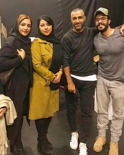 همسر شهاب حسینی در کنار پژمان جمشیدی و خواهرش+عکس