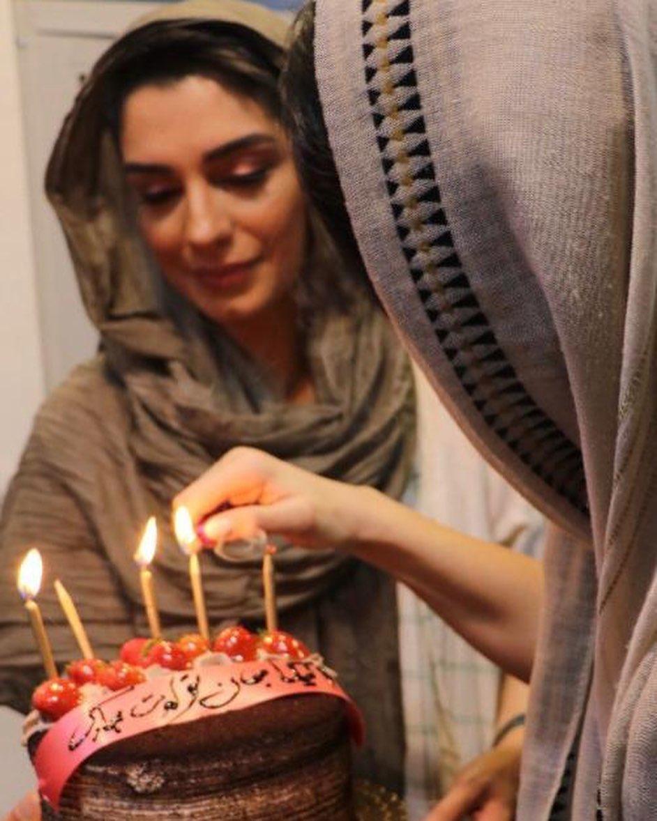 خانم بازیگر در شب جشن تولدش+عکس