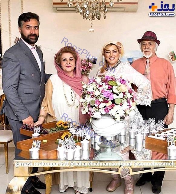 بهاره رهنما همراه پدر و مادرش در دومین سالگرد ازدواجش +عکس