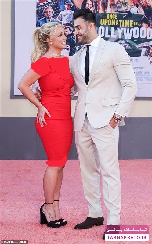 بریتنی همراه نامزدش برای نخستین بار روی فرش قرمز