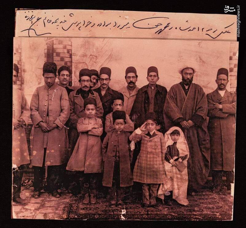 عکس یادگاری احمدشاه با فامیل