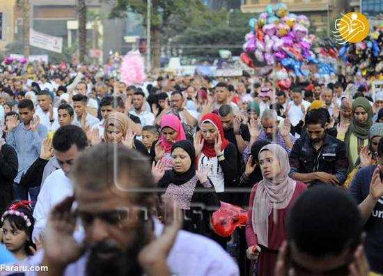 نماز مختلط زنان و مردان مصری به مناسبت عید قربان+عکس