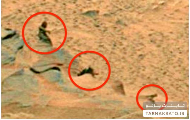 تصویر شگفت انگیز یک خانواده در مریخ!