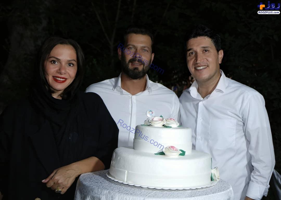 پژمان بازغی همراه همسرش در جشن تولدش+عکس