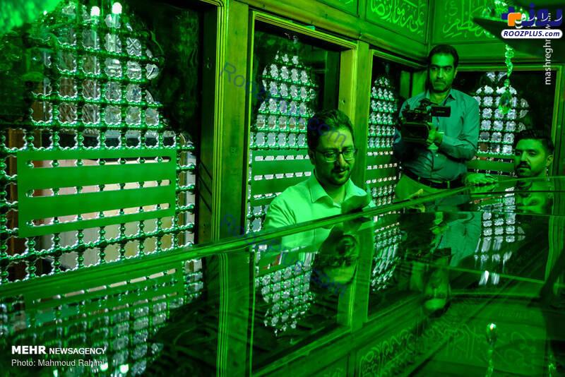 داور عصر جدید در ضریح حرم حضرت عبدالعظیم حسنی +عکس