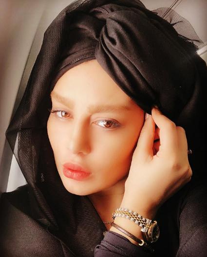 حجاب عجیب سحر قریشی +عکس