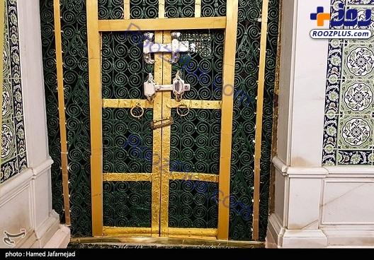 درب خانه حضرت زهرا(س) در مسجدالنبی+عکس