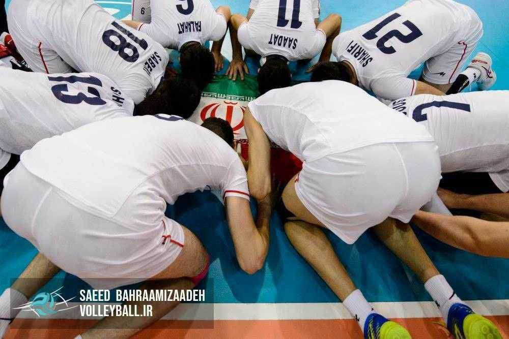 تصویری زیبا از بازیکنان تیم ملی والیبال