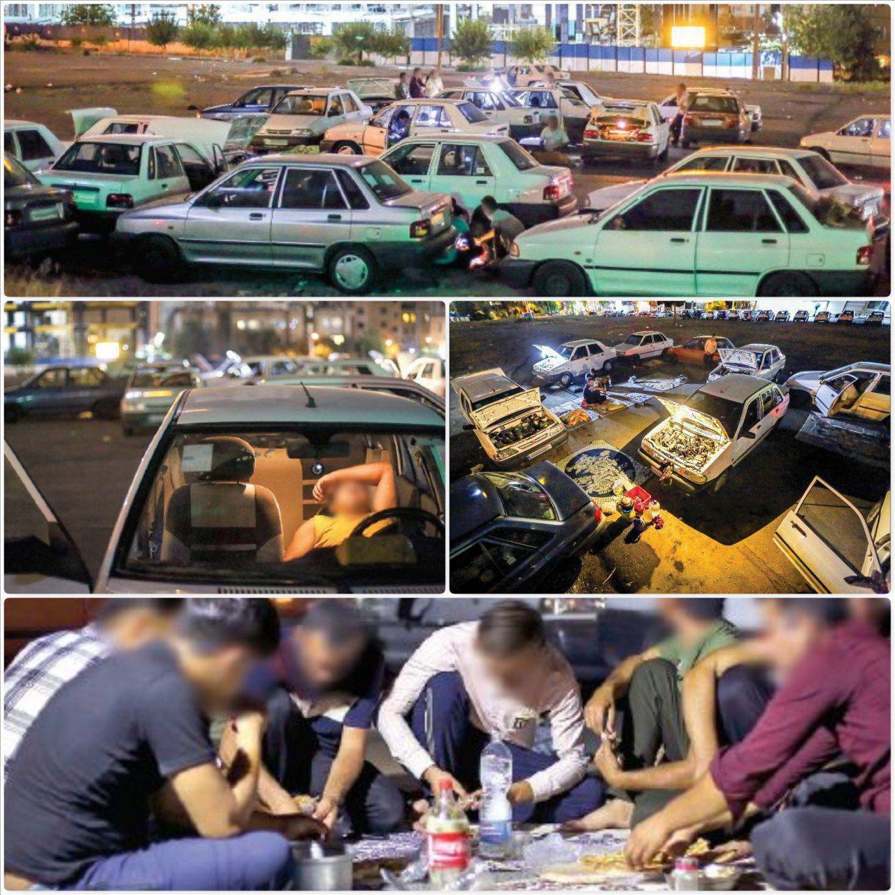 پاتوق رانندگان شهرستانی ماشینخواب در تهران + عکس