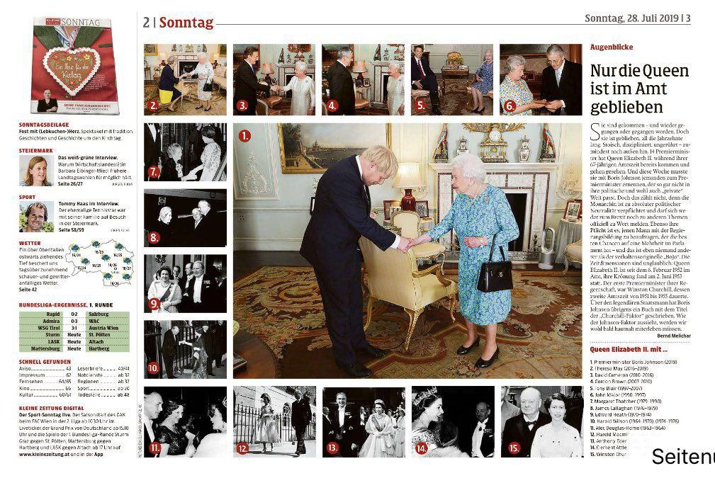 ملکه بریتانیا و ۱۵ نخست وزیر این کشور + عکس