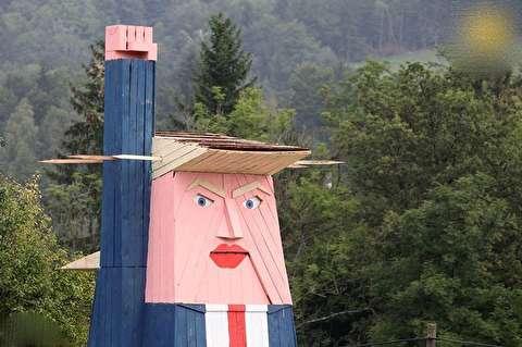 مجسمهی چوبی ترامپ برای مبارزه با پوپولیست!