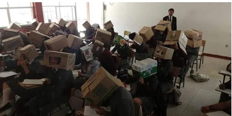 روش جنجالی معلم برای تقلب نکردن دانش آموزانش +عکس