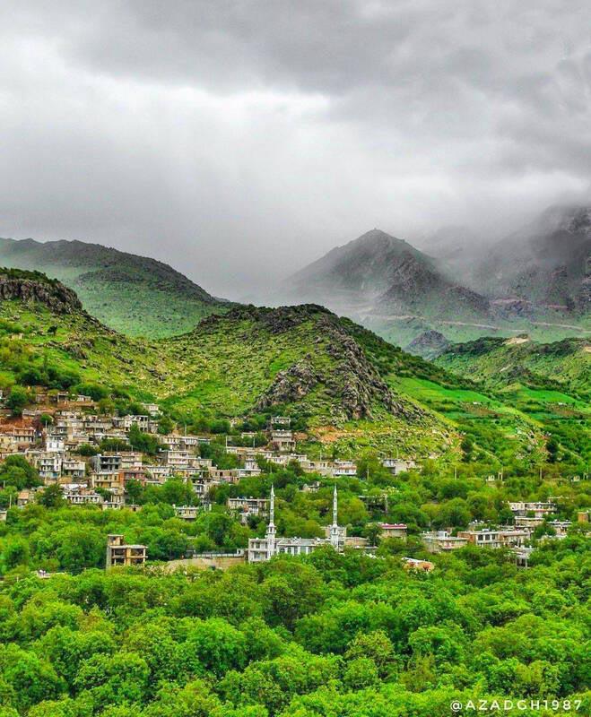 روستایی فوق العاده رویایی در کرمانشاه + عکس