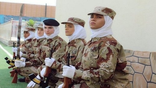 اولین رژه نظامی زنان در عربستان سعودی