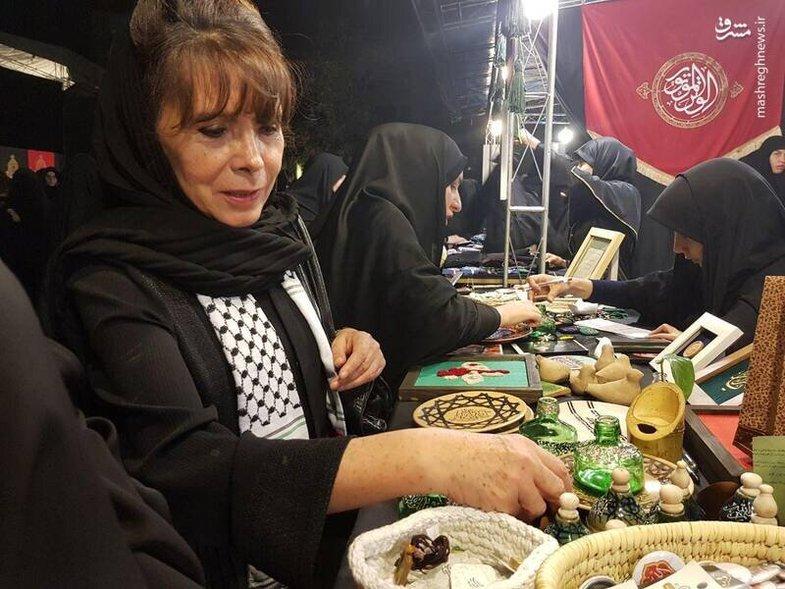 پوشش سفیر زن بولیوی در مراسم عزاداری در تهران +عکس