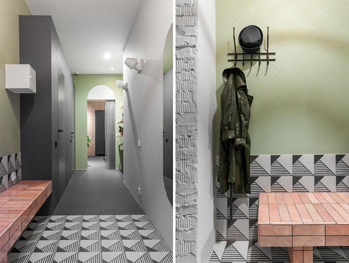 دکوراسیون آپارتمانی شاد با رنگ و بافت های پر انرژی
