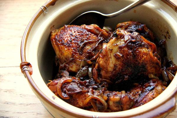 خوراک مرغ رژیمی با سس بالزامیک