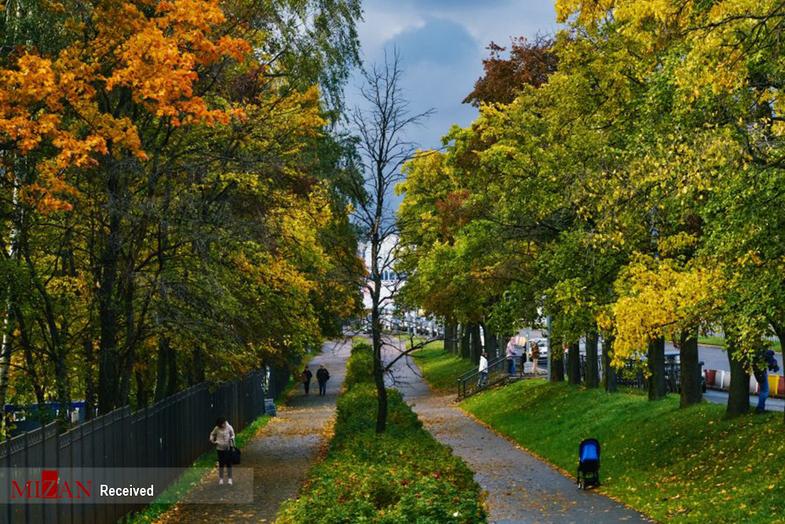 پاییز طلایی در سنت پترزبورگ روسیه +عکس