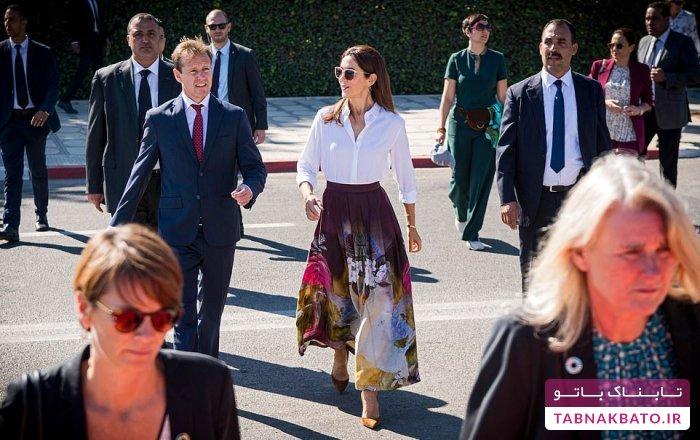 پرنسس دانمارکی در دوی ماراتن مراکش