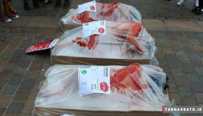 کمپین عجیب فرانسویها علیه گوشت خواران
