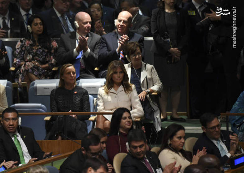 ترامپ با همسرش به سازمان ملل رفت+عکس