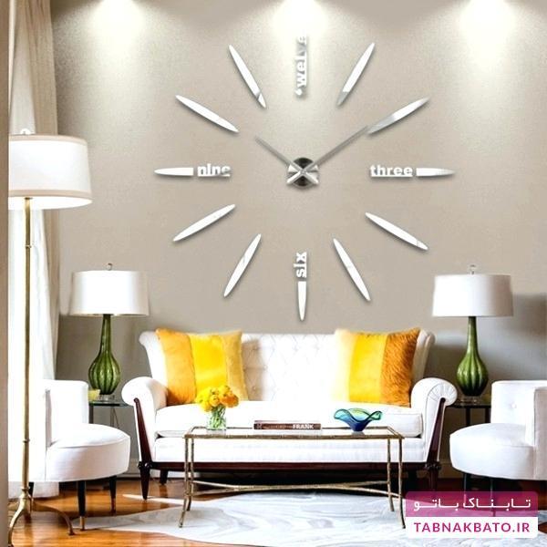 تزیین دیوار با ساعتدیواریهای بزرگ