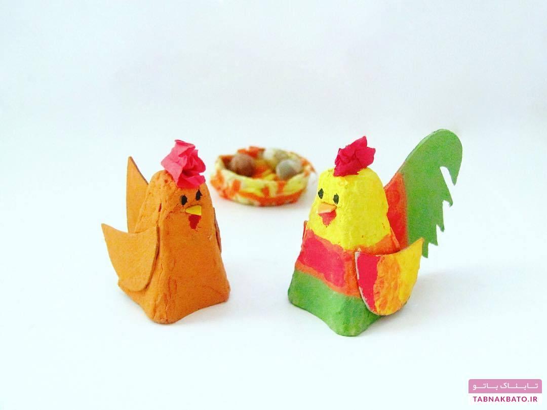 ساخت کاردستیهای جالب با شانهی تخممرغ!