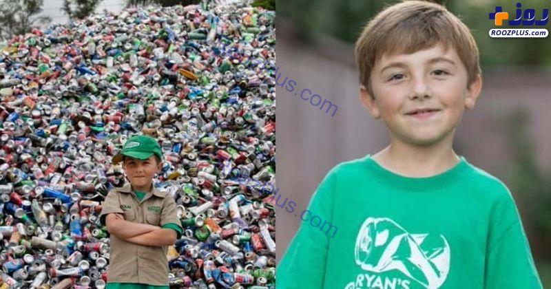 پسر 10 ساله ای که زباله ها را بازیافت می کند