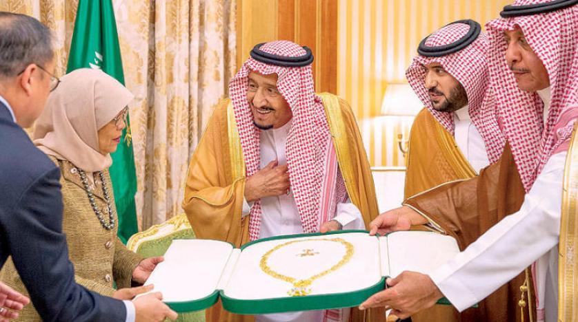 تصویری از بالاترین نشان عربستان، تحت عنوان گردنبد ملک عبدالعزیز