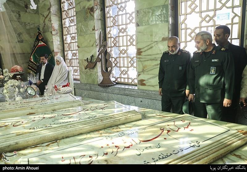 فرمانده سپاه مهمان خطبه عقد یک زوج + عکس