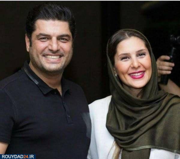 عکس خندان سام درخشانی و همسرش