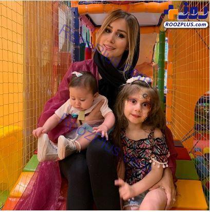 همسر و فرزندان شاهرخ استخری در کلبه بازی+عکس