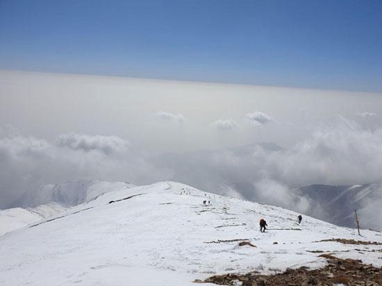 آلودگی شدید هوای تهران از فراز توچال