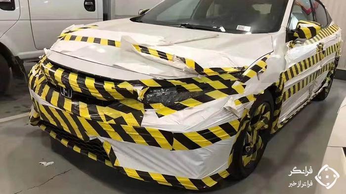 پوشش استتاری خنده دار خودروی جدید هوندا +عکس