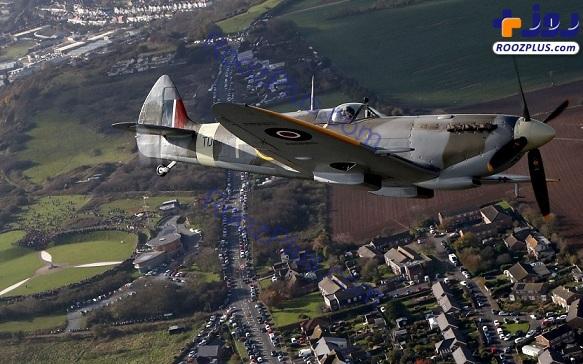 پرواز هواپیمای متعلق به جنگ جهانی دوم + عکس