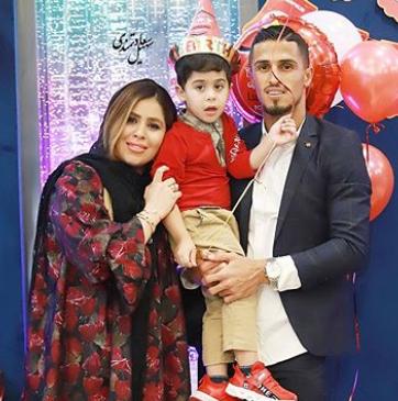 جشن تولد علی علپور و پسرش+عکس