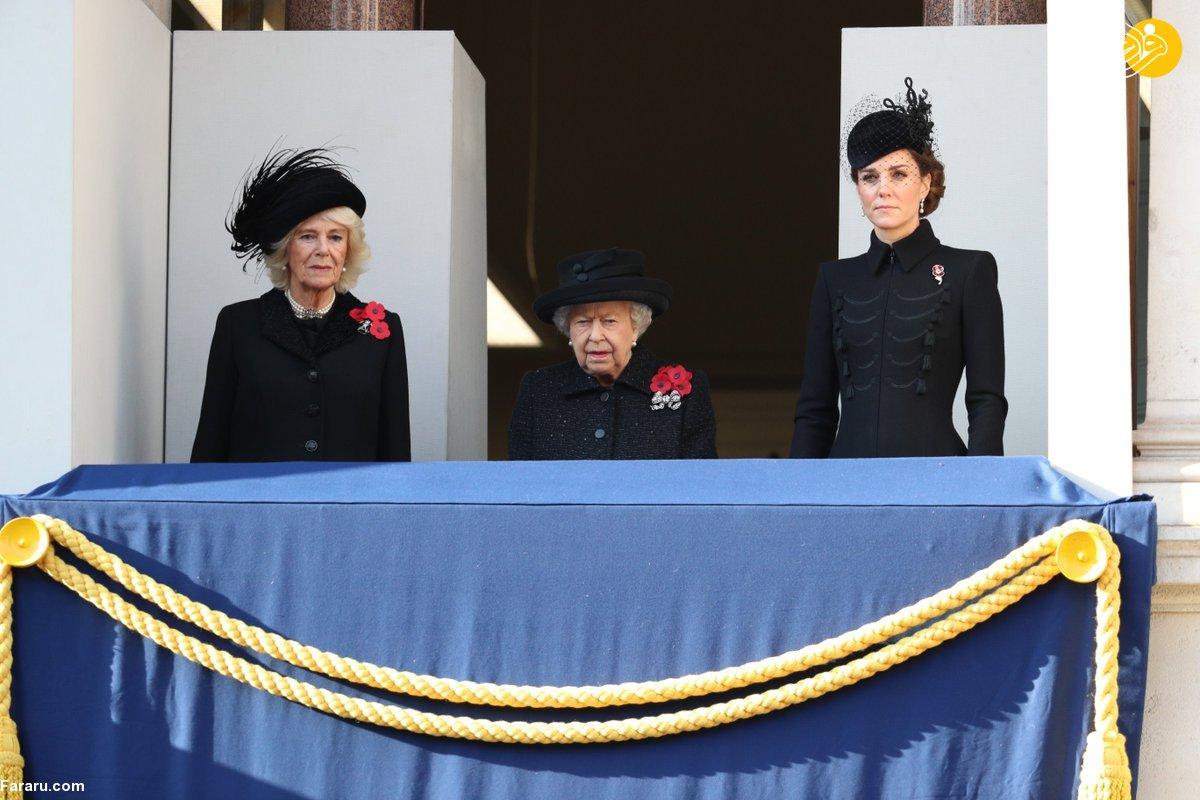 اشک ملکه انگلیس در آمد+عکس