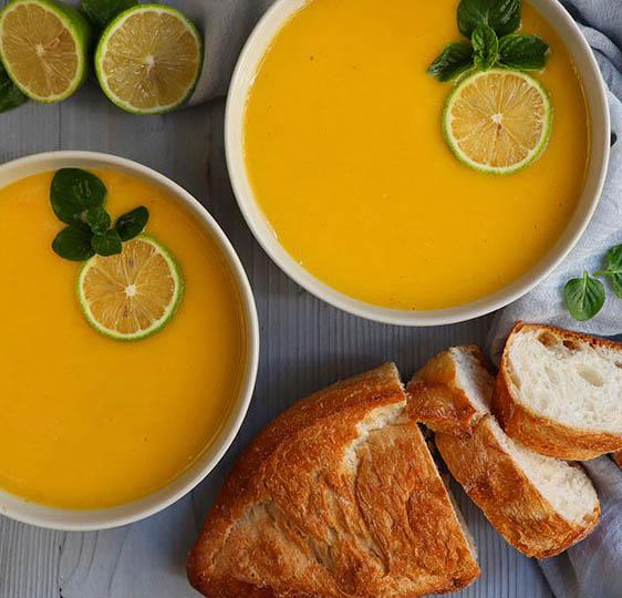 طرز تهیه سوپ کدو حلوایی و برنج