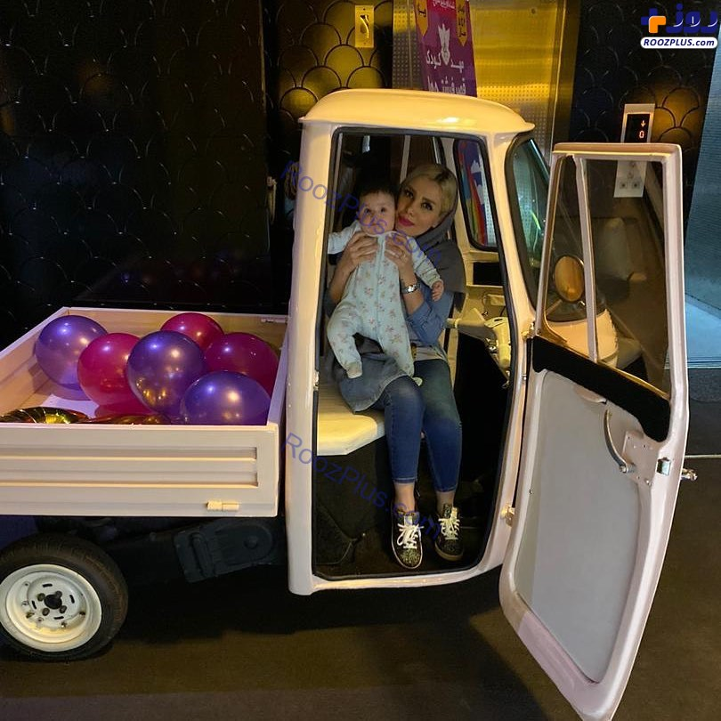 همسر مهران غفوریان و دخترش در ماشینی عجیب+عکس