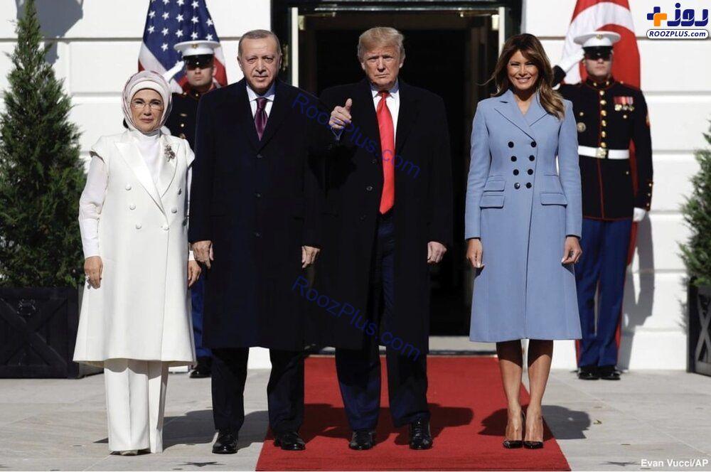 پوشش همسران ترامپ و اردوغان در کاخ سفید+عکس