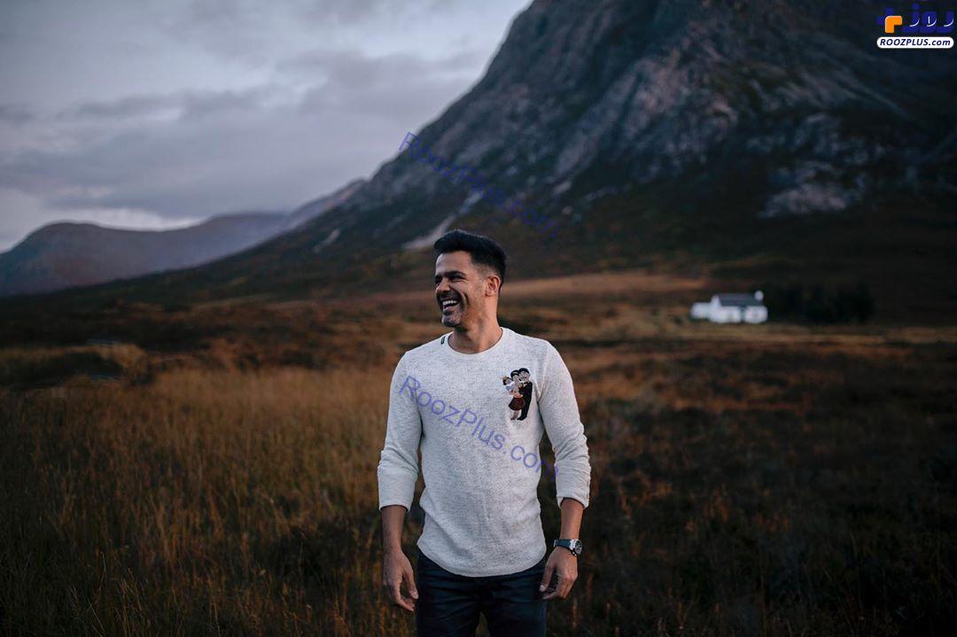 سیروان خسروی در طبیعت اسکاتلند +عکس