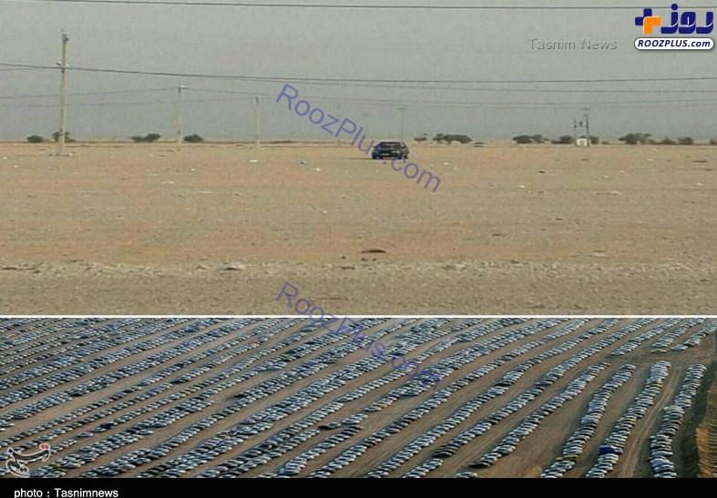 انتقال تنها خودروی باقیمانده در پارکینگ مهران +عکس