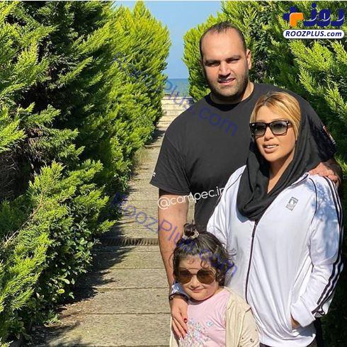 بهداد سلیمی و همسر و دخترش کنار دریا+عکس