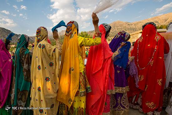جشنواره رنگها در عروسیِ بختیاری