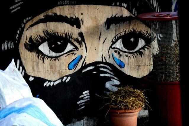 دیوارنگارهای اعتراضی در مناطق لوکس بیروت