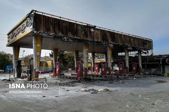 خسارات وارده به اموال عمومی در جریانات اخیر +عکس