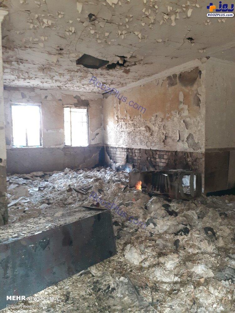 نابودی ۱۳هزار جلد کتاب در آتش سوء استفاده از اعتراضات+عکس