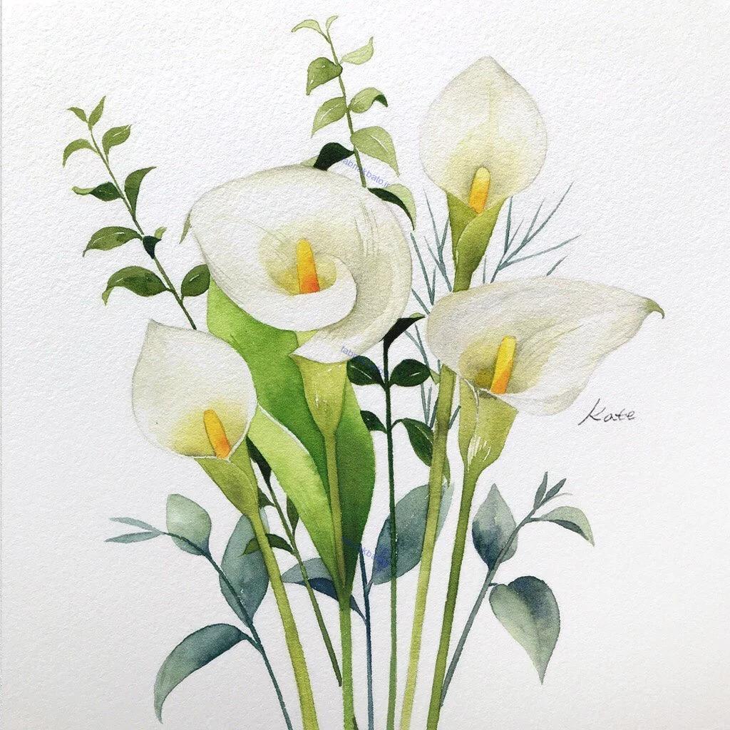 آموزش گام به گام رسم گل های زیبا به سبک هنرمند کره ای