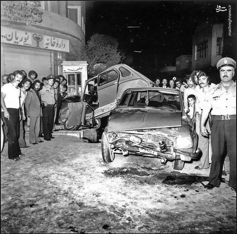 واکنش عجیب مردم تهران به تصادف شدید پیکان و ژیان! +عکس