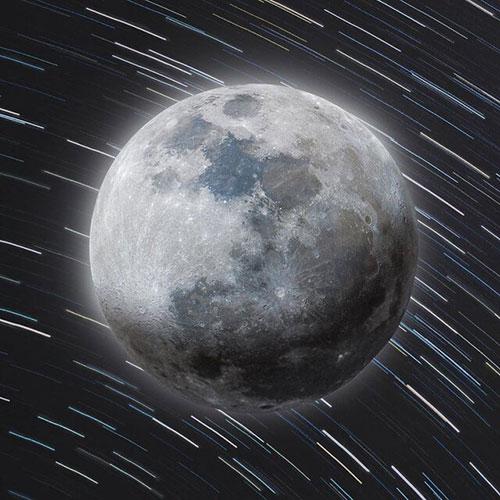 تصویر ۵۲ مگاپیکسلی ماه